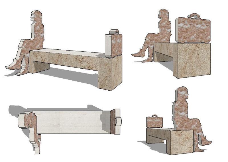 Il progetto della panchina Pink Bench